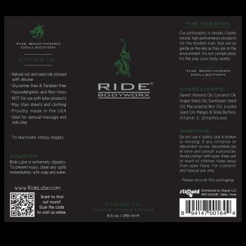 Ride BodyWorx Stroke Oil Label